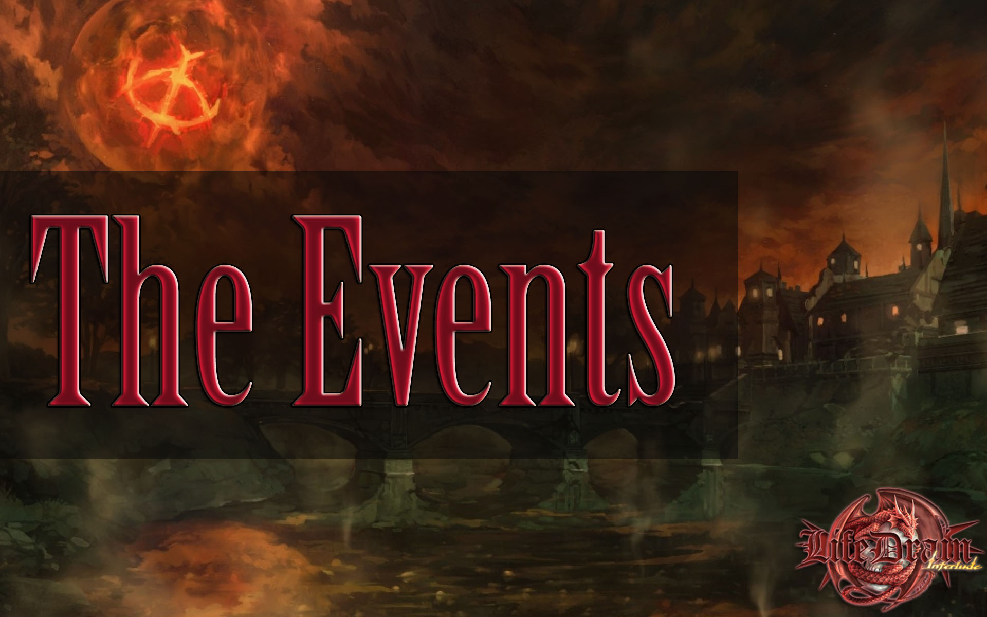 Reminder about the events